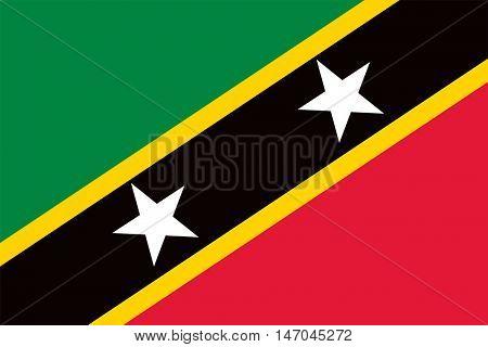 Vector Saint Kitts and Nevis flag