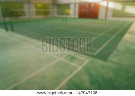 Abstract blur Badminton court