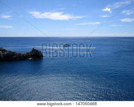 rock promontory of Portovenere Liguria, north italy