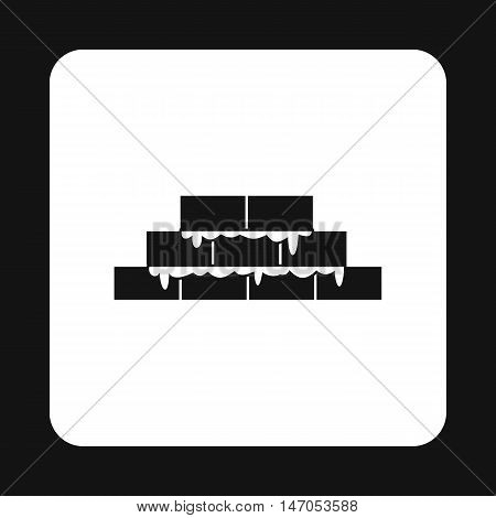 Brickwork icon in simple style isolated on white background. Construction symbol vector illustration