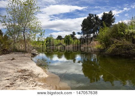 Algars river gorge in Spain. Teruel province