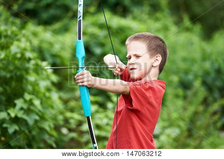 Little Archer With Bow And Arrow