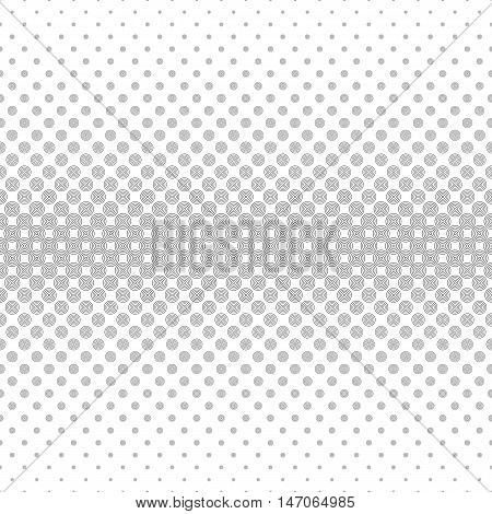 Seamless monochrome abstract horizontal circle pattern design