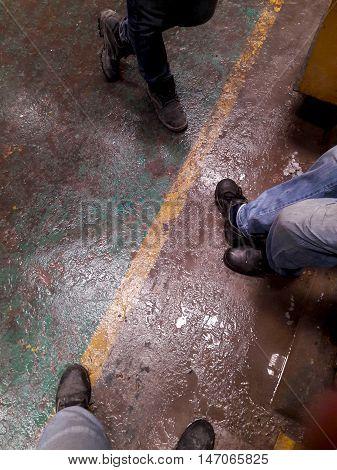 Talk Meeting Relax in Factory / floor
