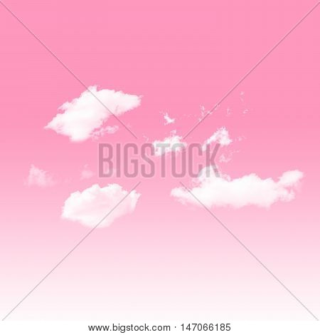 sweet heart beat Pink sky Valentine and cloudy