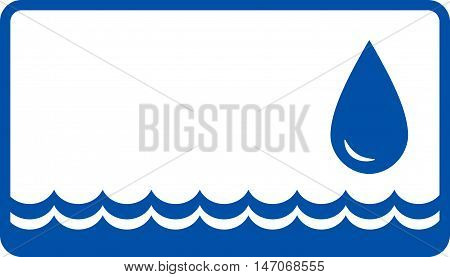 Background With Water Drop And Wave