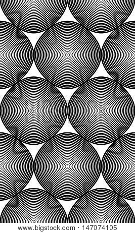 Black and white vector ornamental pattern seamless art background decorated with monochrome lines best for graphic and web design.