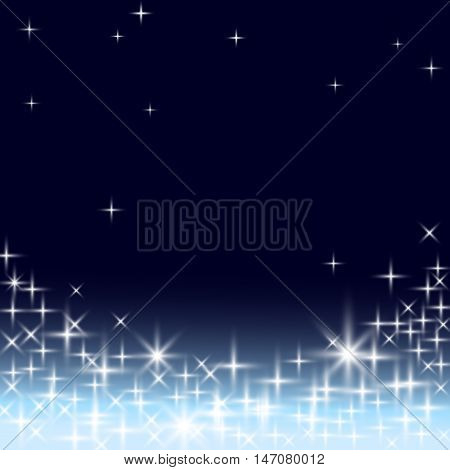 Cosmic Background. Starry Night Sky.  Astronomy illustration.