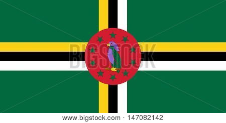 Illustration of the national flag of Dominica