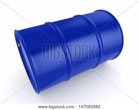 3D Rendering Blue Barrel