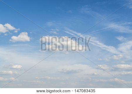full frame sunny sky with some clouds