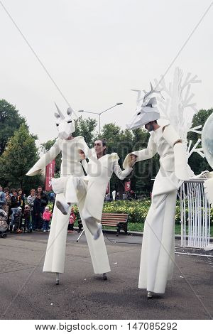 Street Actors Perform In Gorky Recreation Park In Moscow