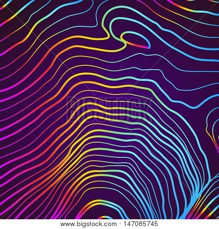 Abstract background with 3D pink and blue lines. EPS10 Vector