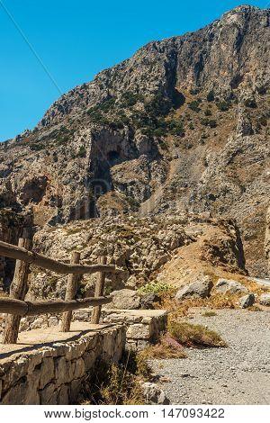 Crete, Greece: beautiful mountain landscape in Rethymno regional unit