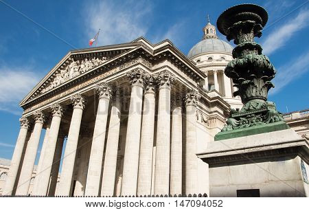 The Pantheon is a secular mausoleum contnaining the remains of distinguished French citizens.Located in 5th arrondissement of Paris on the Mountain Saint Genevieve it looks out over all of Paris.
