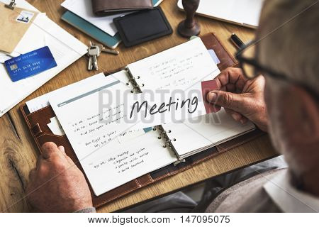 Meeting Appointment Memo Reminder Handwritten Graphic Concept