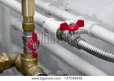 Heating system pipes