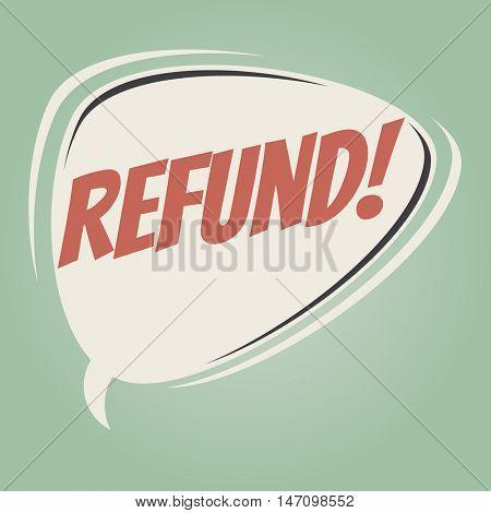 refund retro speech balloon