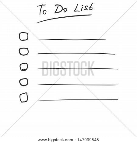 Vector Sketch To Do List