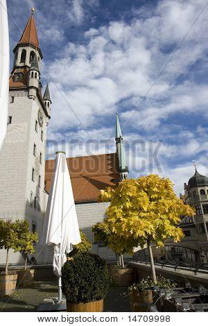 Clock Tower In Munich