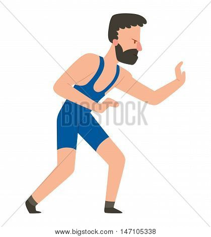 Fighter struggle man kick punch grab throw body vector. Athlete training martial struggle fighter people symbol character. Fighter man strong gym kick body. Fight struggle people