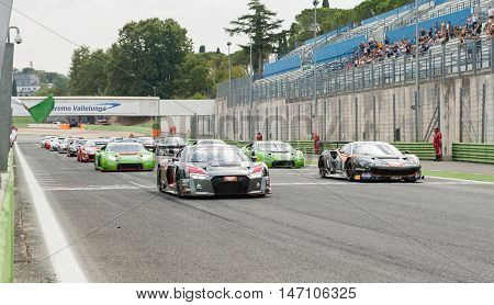 Vallelunga, Rome, Italy. September 10Th 2016. Touring Cars Moving For Formation Lap