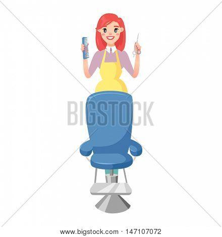 Hairdresser barber icons vector