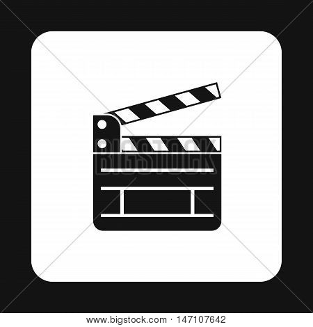 Clapboard icon in simple style on a white background vector illustration