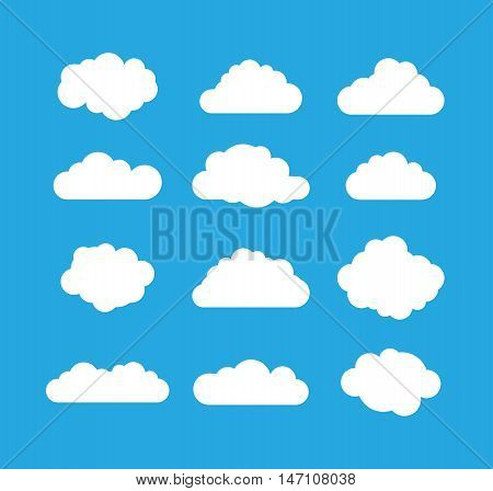 a blue and white cloud set image
