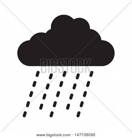a black and white rain cloud image
