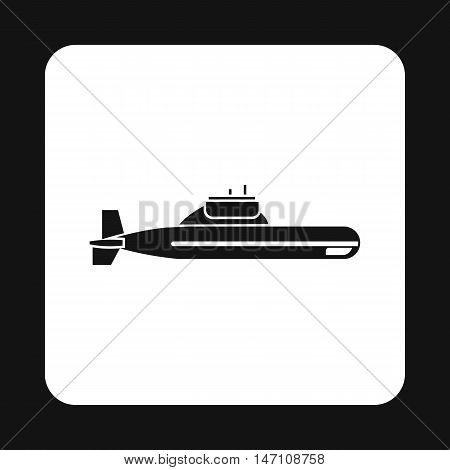 Submarine icon in simple style on a white background vector illustration