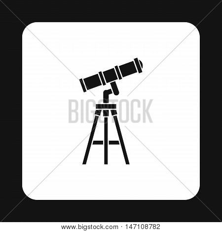 Telescope icon in simple style on a white background vector illustration
