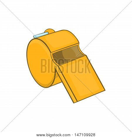 Sports whistle icon in cartoon style isolated on white background vector illustration