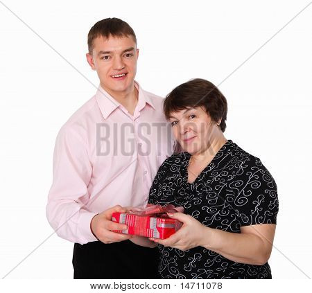 son with an old mother