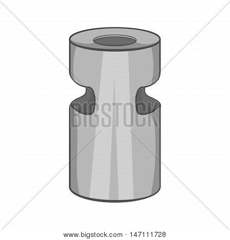 Trash ashtray icon in black monochrome style isolated on white background. Garbage symbol vector illustration
