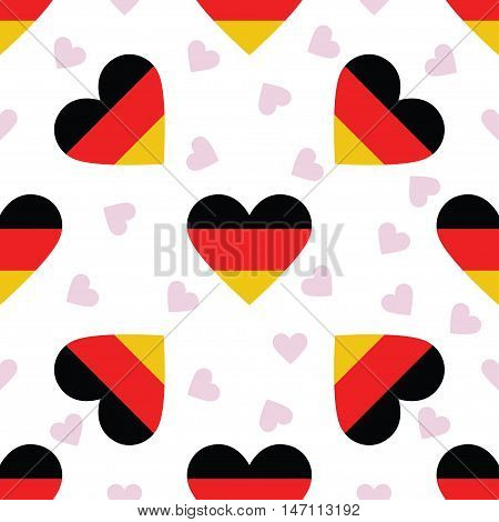 Germany Independence Day Seamless Pattern. Patriotic Background With Country National Flag In The Sh