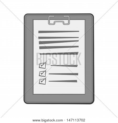 Diagnosis on paper icon in black monochrome style isolated on white background. Medical symbol vector illustration