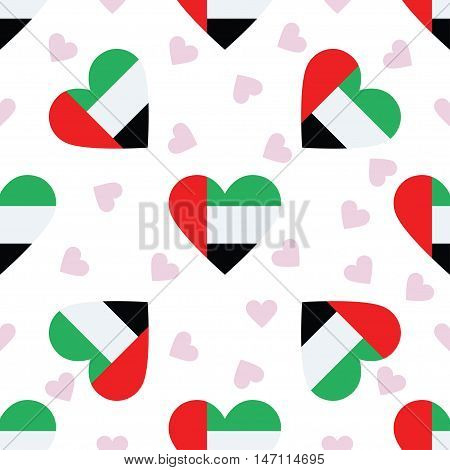 United Arab Emirates Independence Day Seamless Pattern. Patriotic Background With Country National F