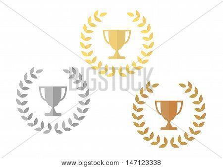 Gold, Silver, Bronze Award Prize Cup