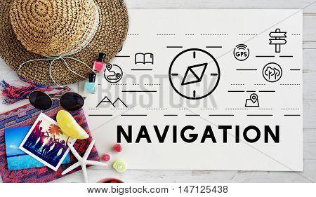Travel Navigation Journey Vacation Trip Concept