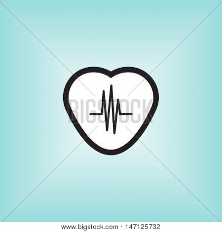 Heart monitor vector icon. Heart montior isolated vector sign. Heart monitor application vector logo.