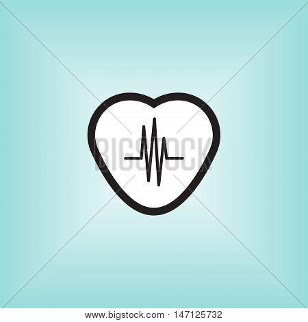 Heart monitor vector icon. Heart montior isolated vector sign. Heart monitor application vector logo.
