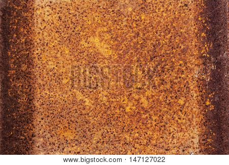 Rusty Colored  Patterns And Textures On Rusted Metal Surface