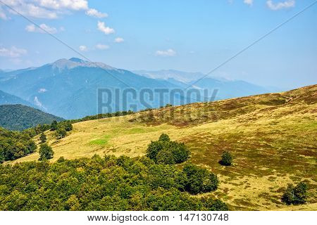 High Peak Behind The Hillside