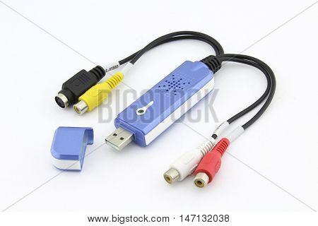 Easy cap video converter, isolated on white