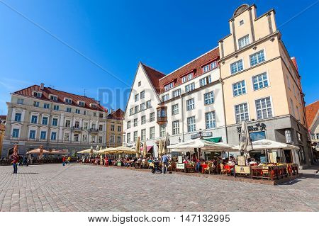 Town Hall Square In Old Tallinn