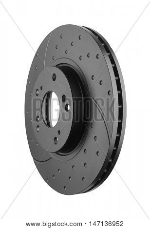 Brake disk isolated on white background