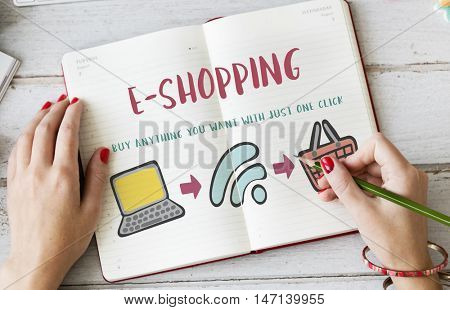 Online Shopping Web Shop E-shopping Concept