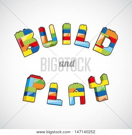 Build and Play brick based slogan template.