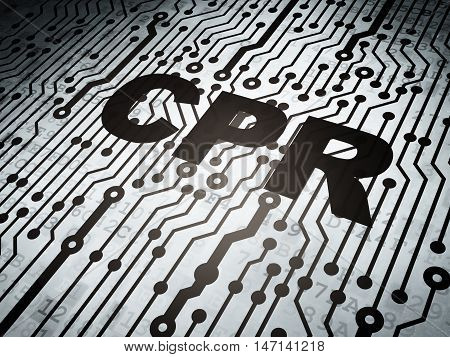 Health concept: circuit board with  word CPR, 3D rendering